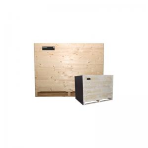 Full box with short <br>side made of plywood